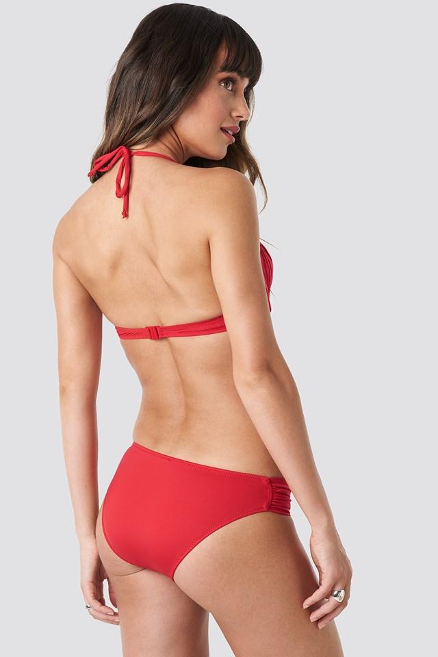 Ruffled Bikini Top Red