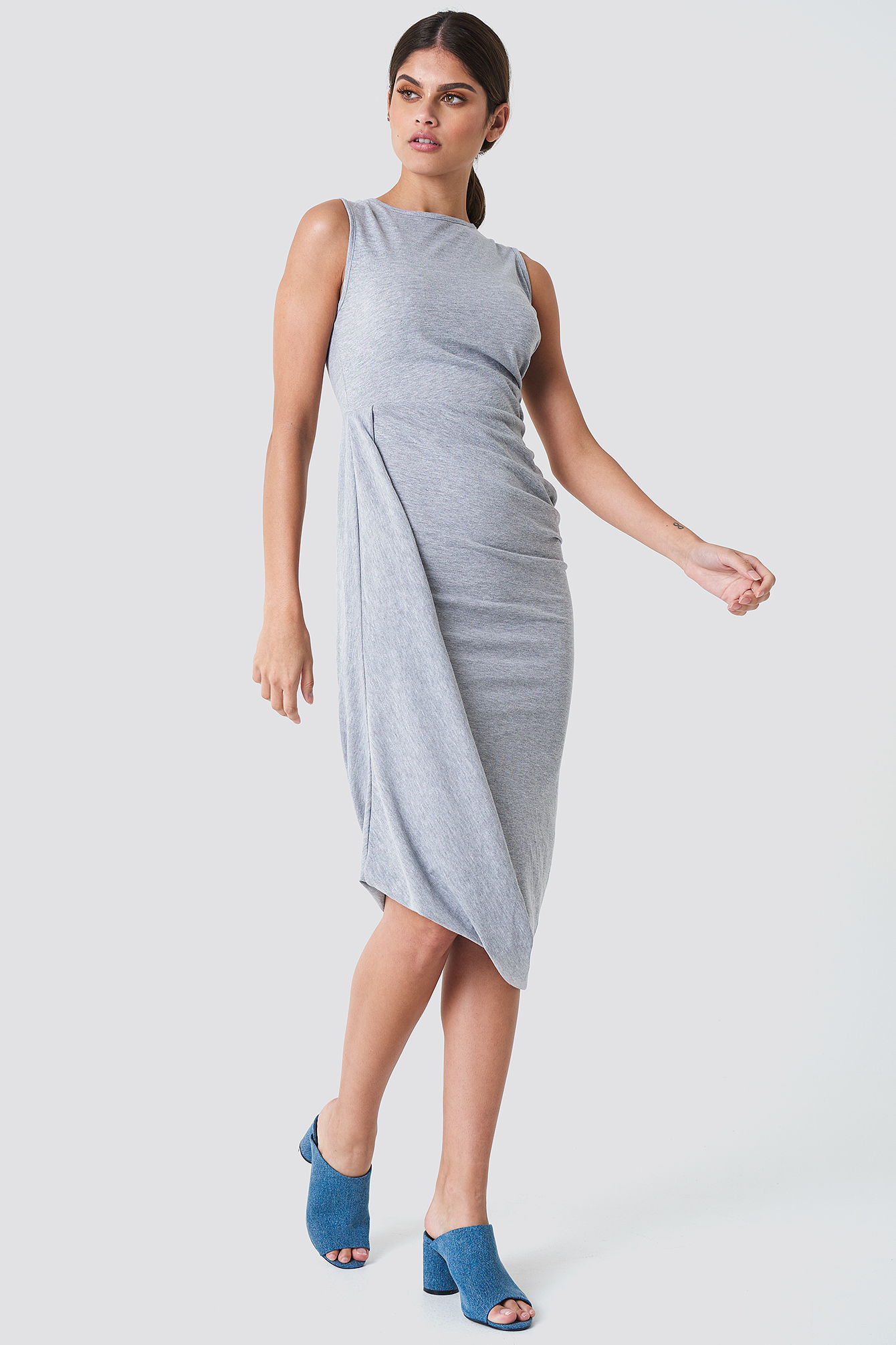 Rushed Side Jersey Dress NA-KD.COM