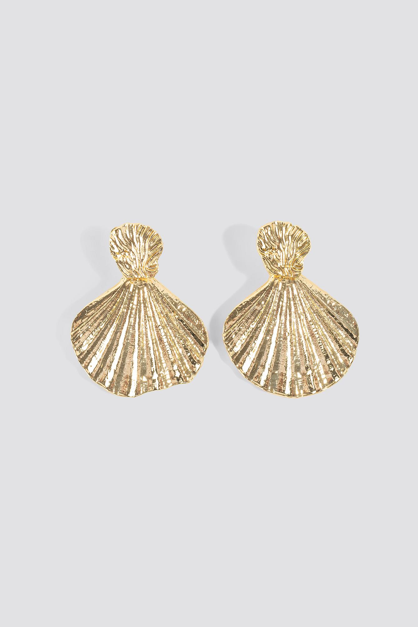 trendyol -  Sea Shell Patterned Bijouterie Earrings - Gold