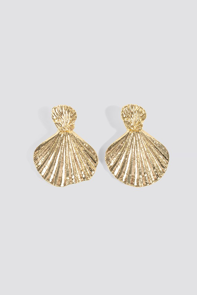 Sea Shell Patterned Bijouterie Earrings Trendyol