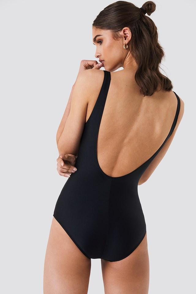 Self Service Swimsuit Black