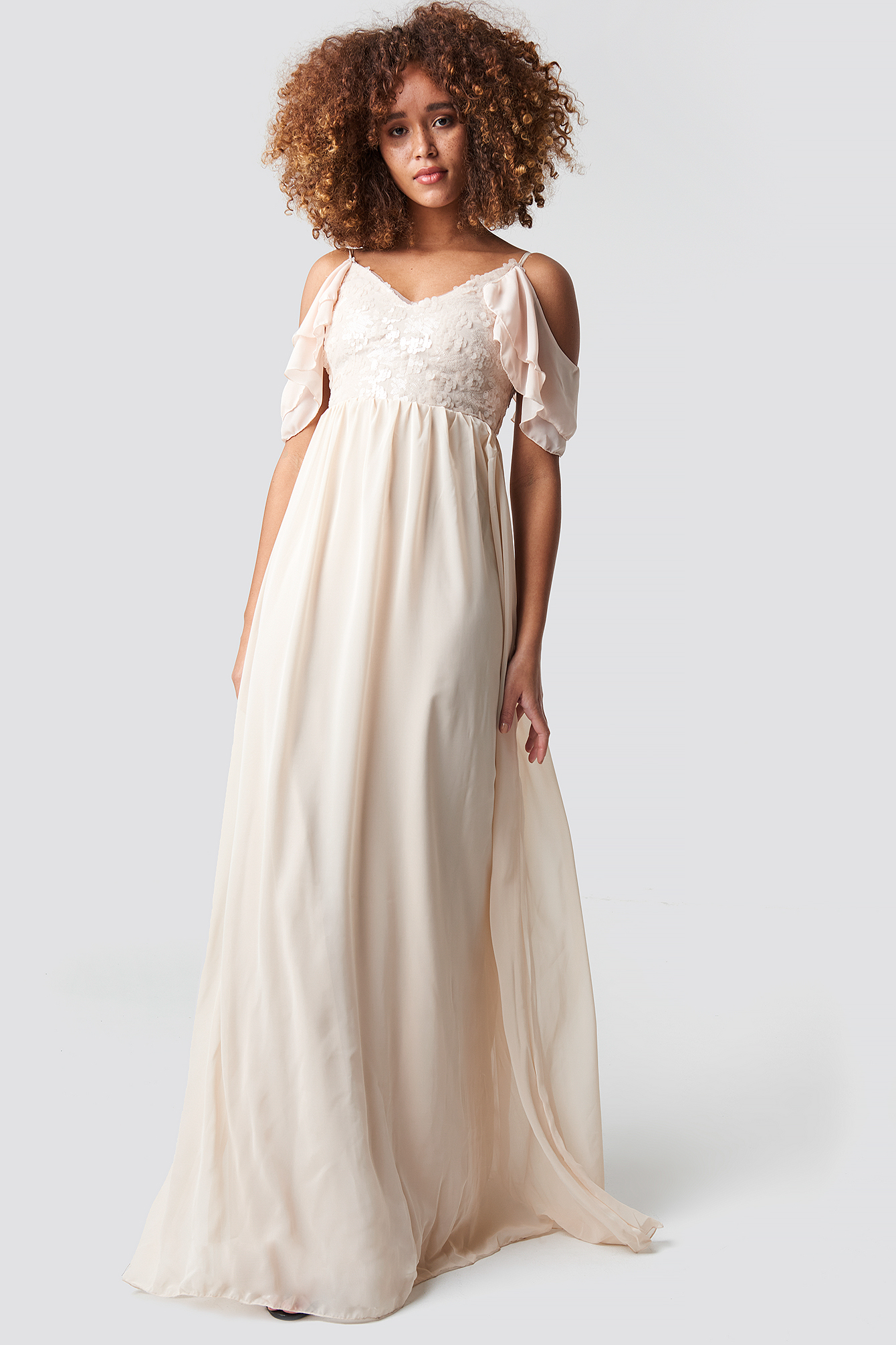 Sequin Detailed Evening Dress NA-KD.COM