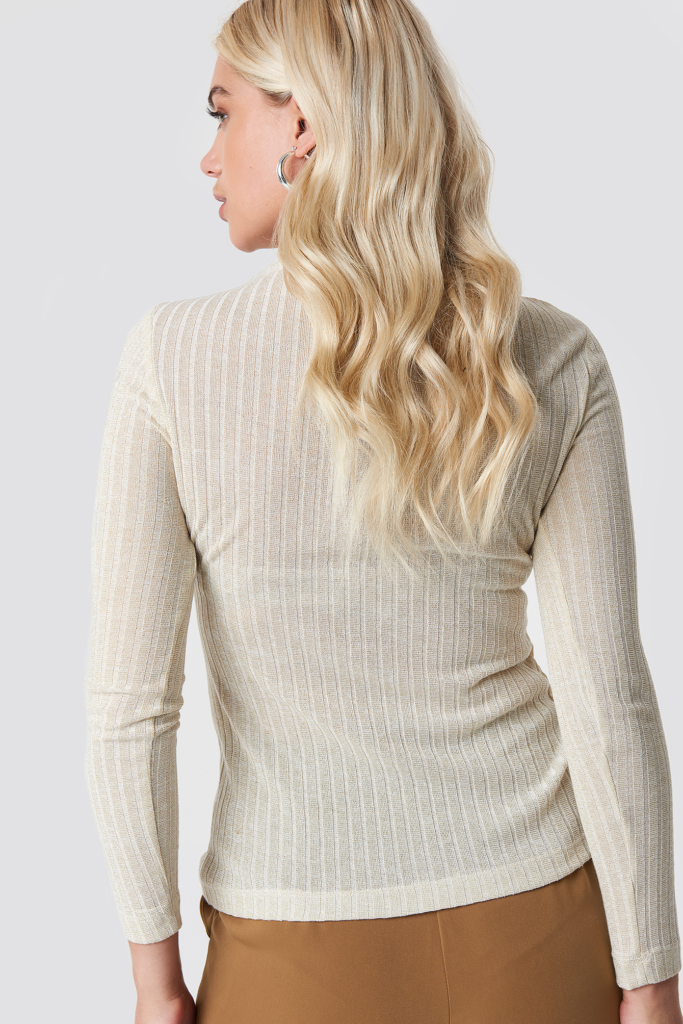 Shimmery Knitted Blouse NA-KD.COM
