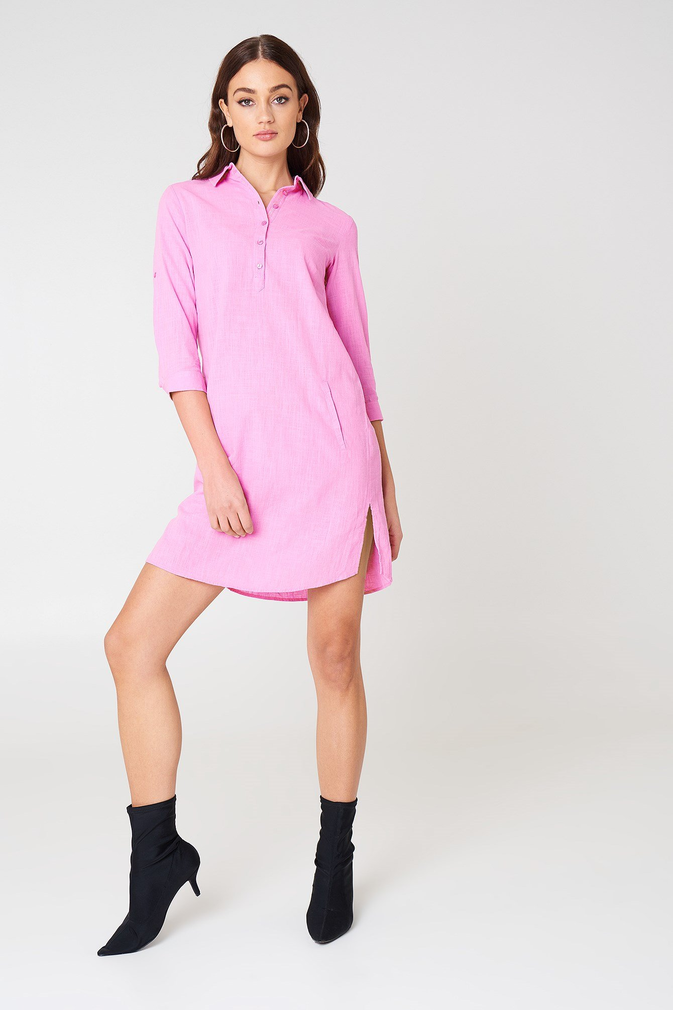 Shirt Slit Dress NA-KD.COM