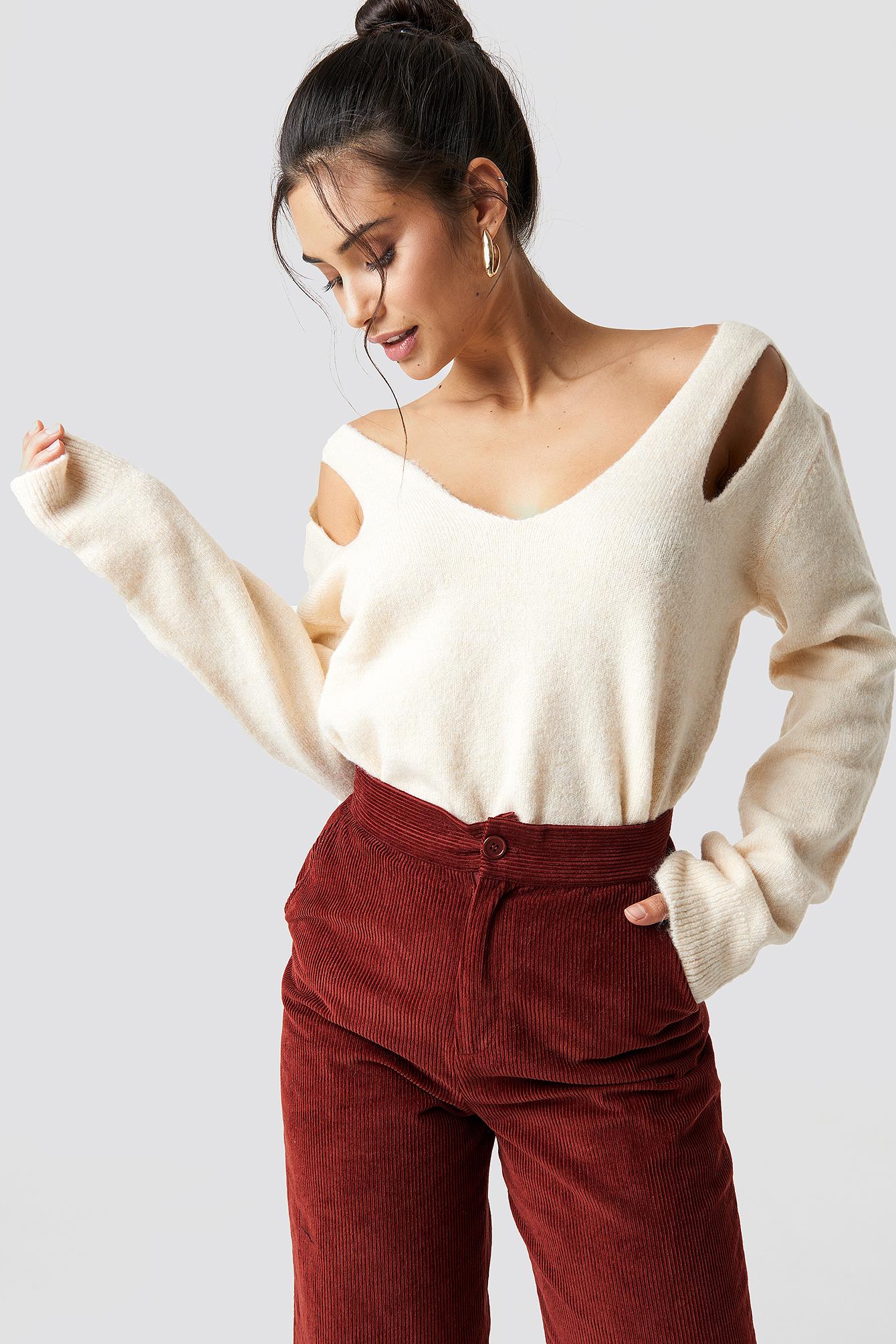 Shoulder Cut-Out Sweater NA-KD.COM