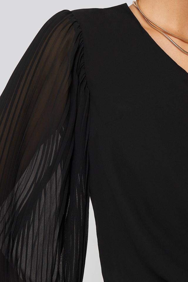 Shoulder Detail Blouse Black