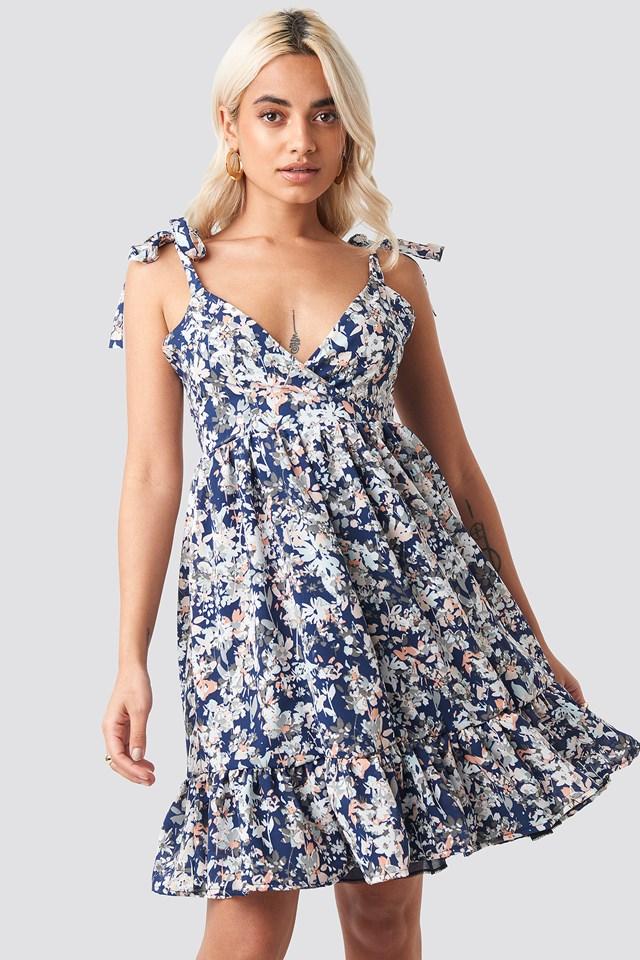Shoulder Knot Mini Dress NA-KD.COM