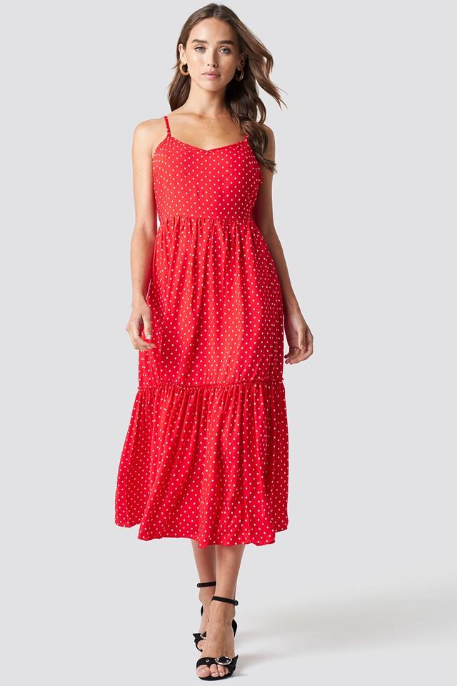 Shoulder Strap Midi Dress NA-KD.COM