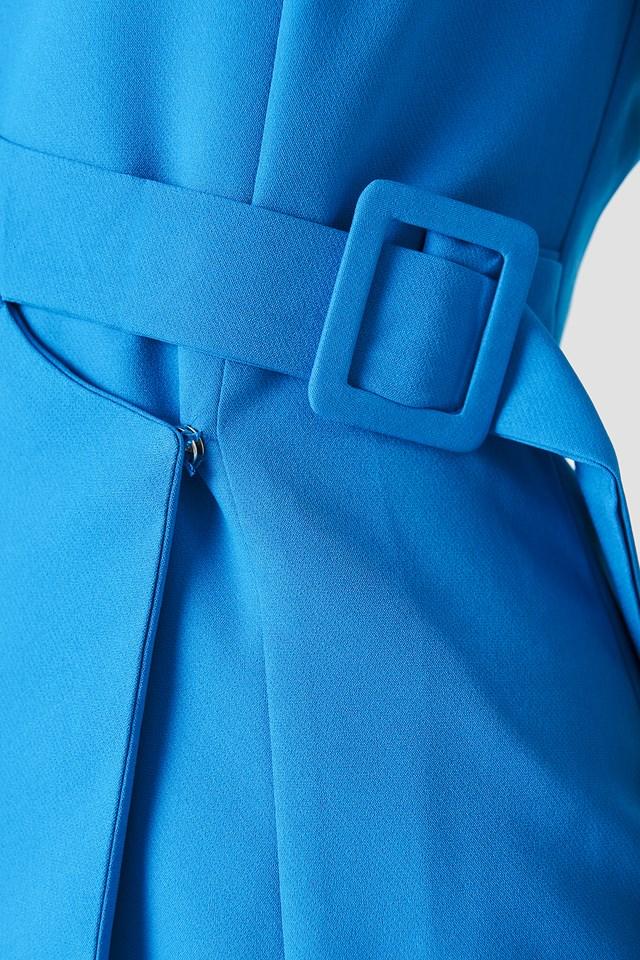 Side Belt Dress Blue
