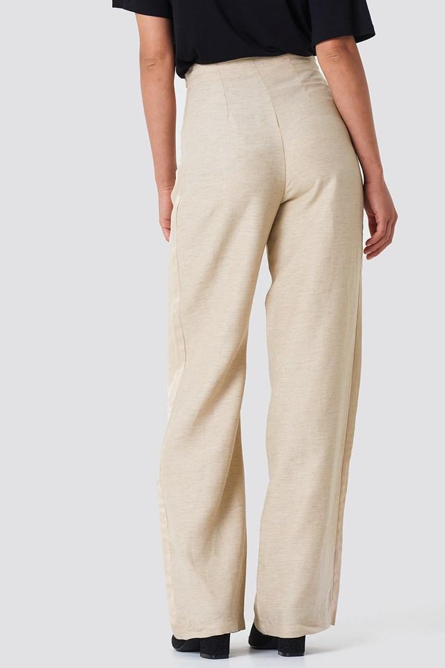 Side Panel Loose Pants Ecru