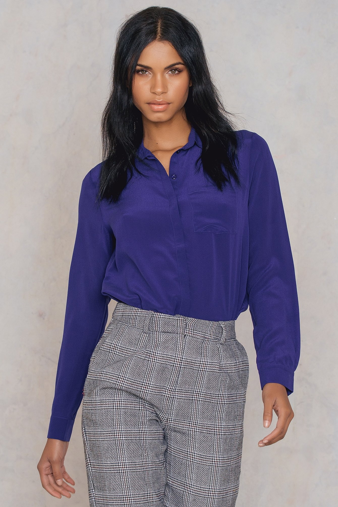 trendyol -  Silk Shirt - Purple
