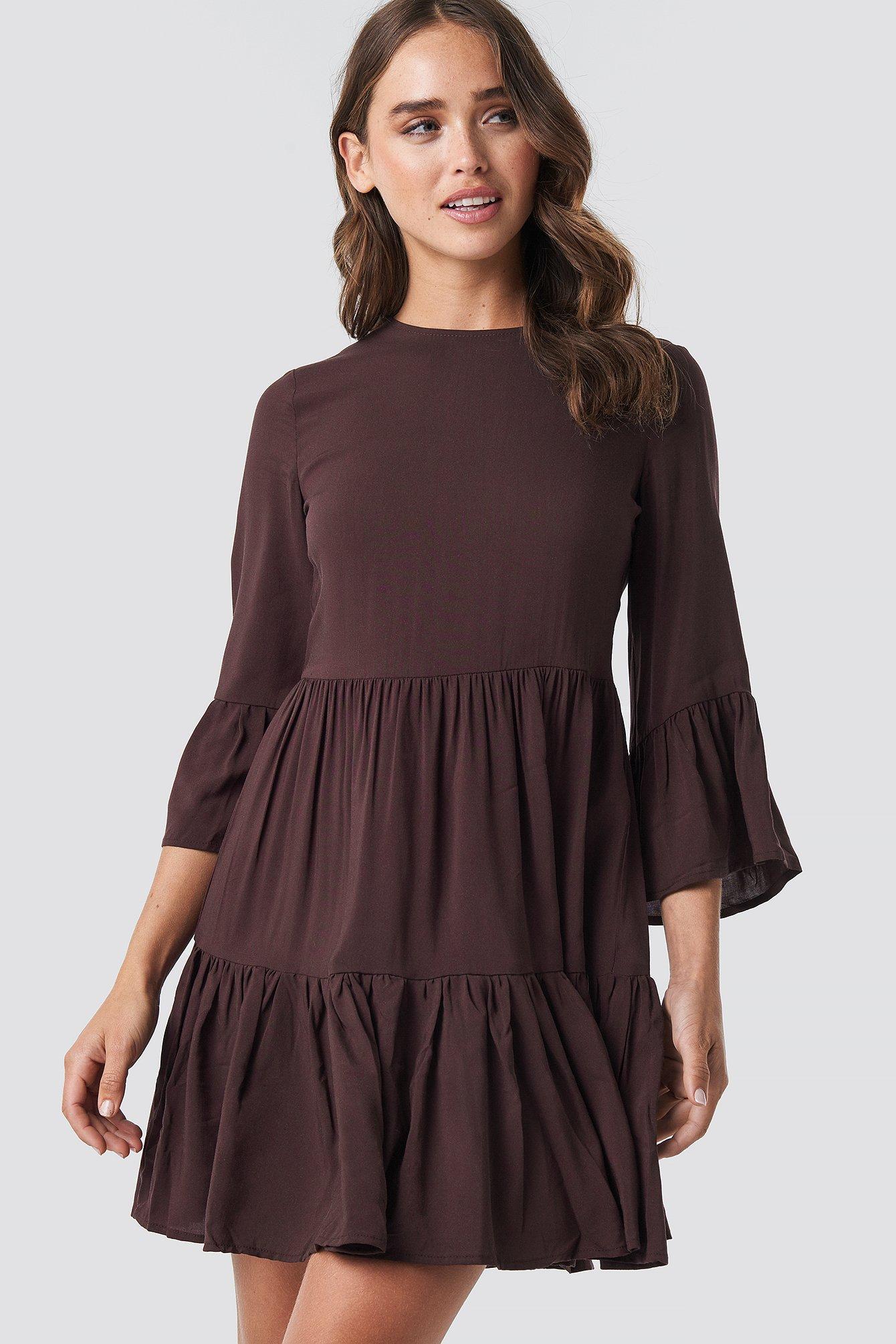 Skirt Shirred Dress NA-KD.COM