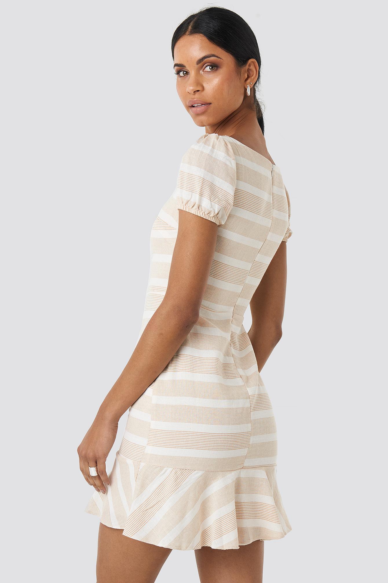 Sleeve Detailed Mini Dress NA-KD.COM