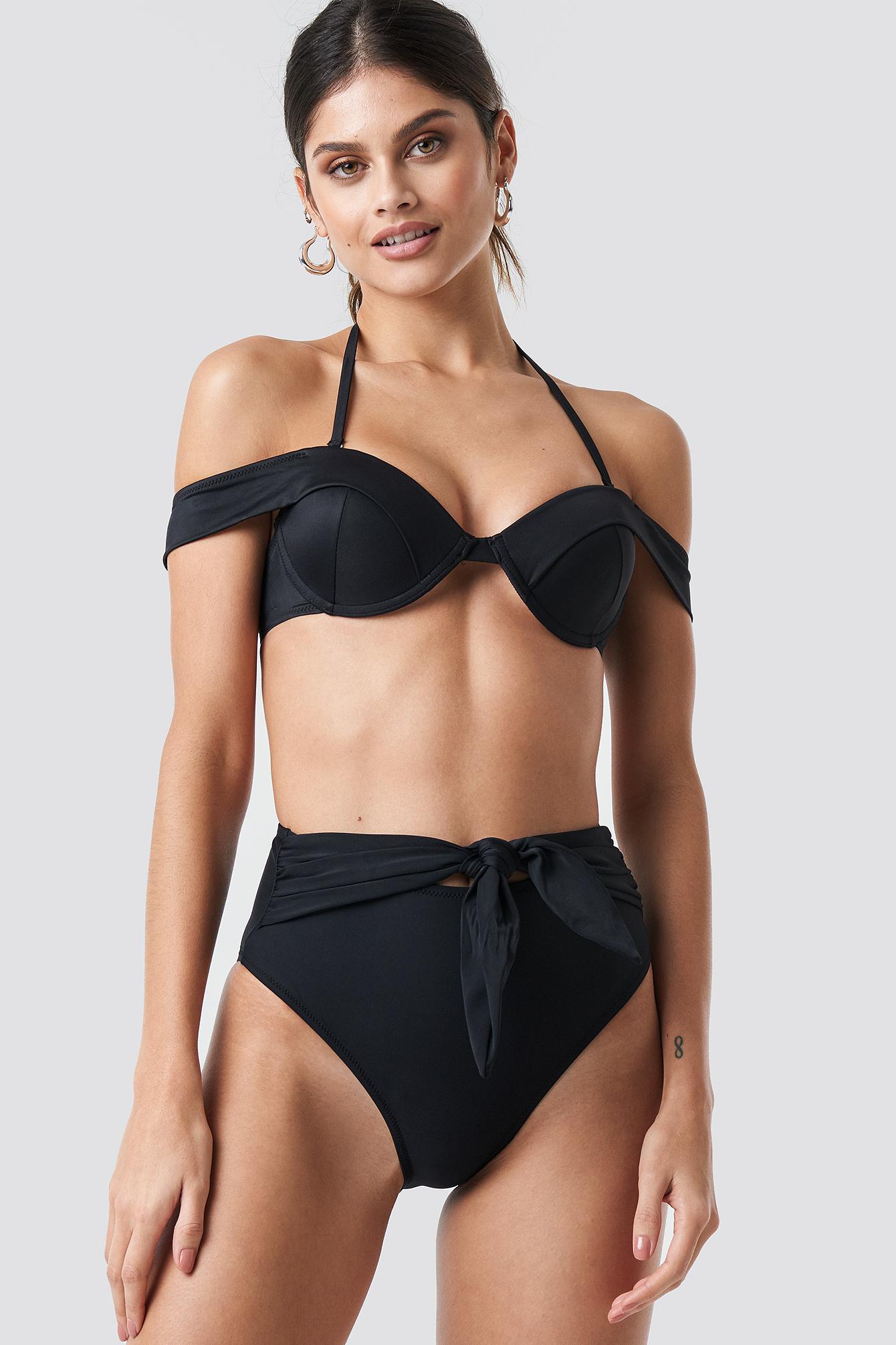 Sleeve Detailed Bikini Top NA-KD.COM