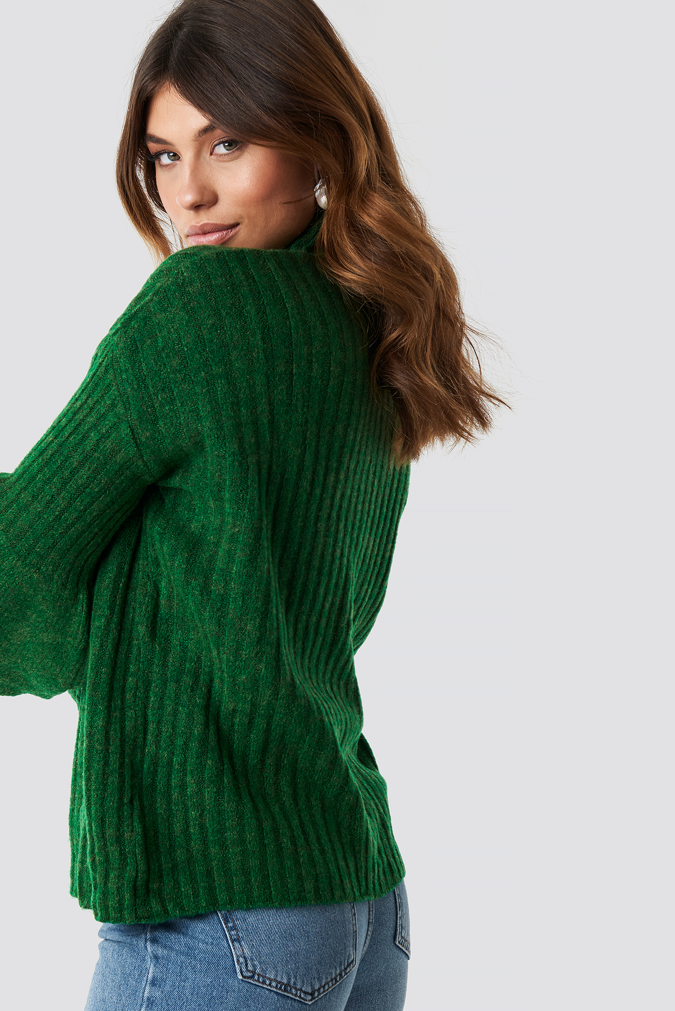 Sleeve Detailed Knitted Jumper NA-KD.COM