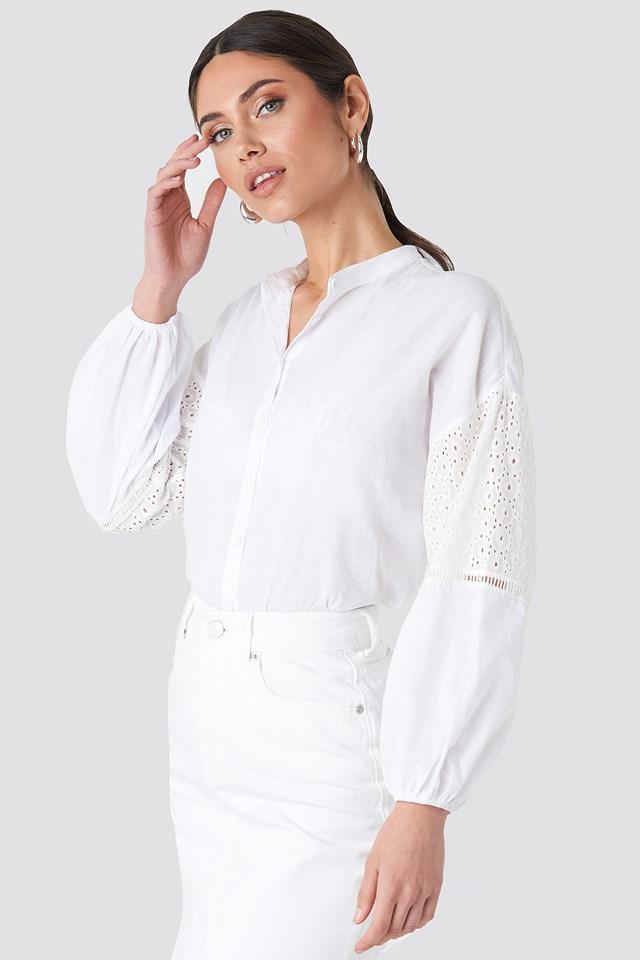 Sleeve Detailed Shirt Trendyol