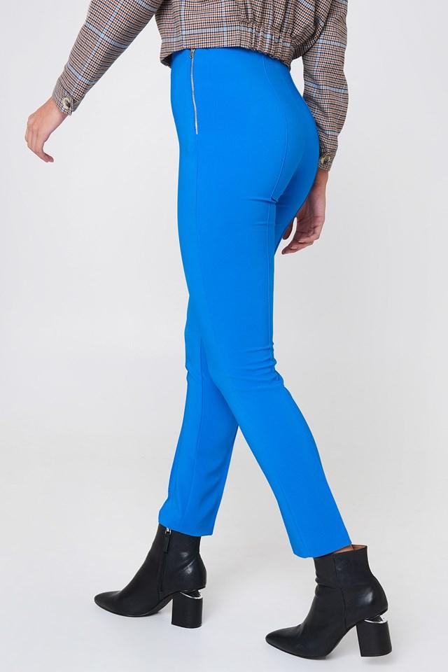 Slim Basic Pants Blue