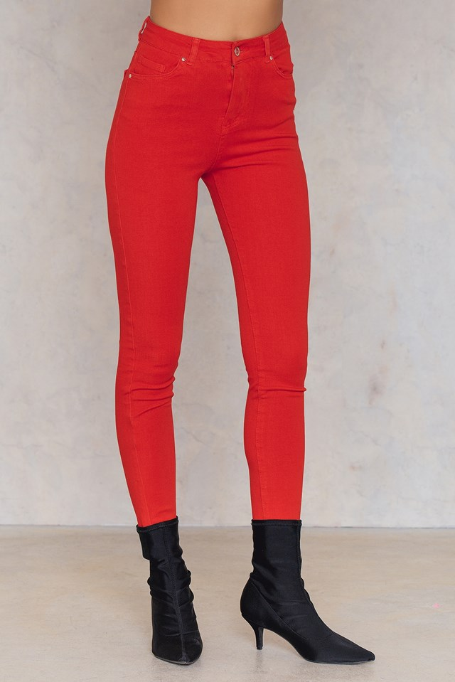 Slim Skinny Jeans Red