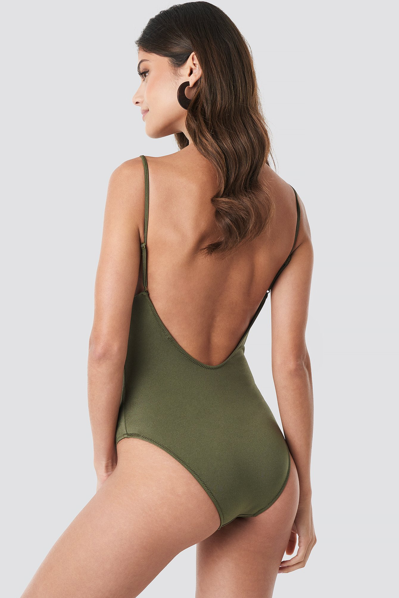 Slim Strap Swimsuit NA-KD.COM