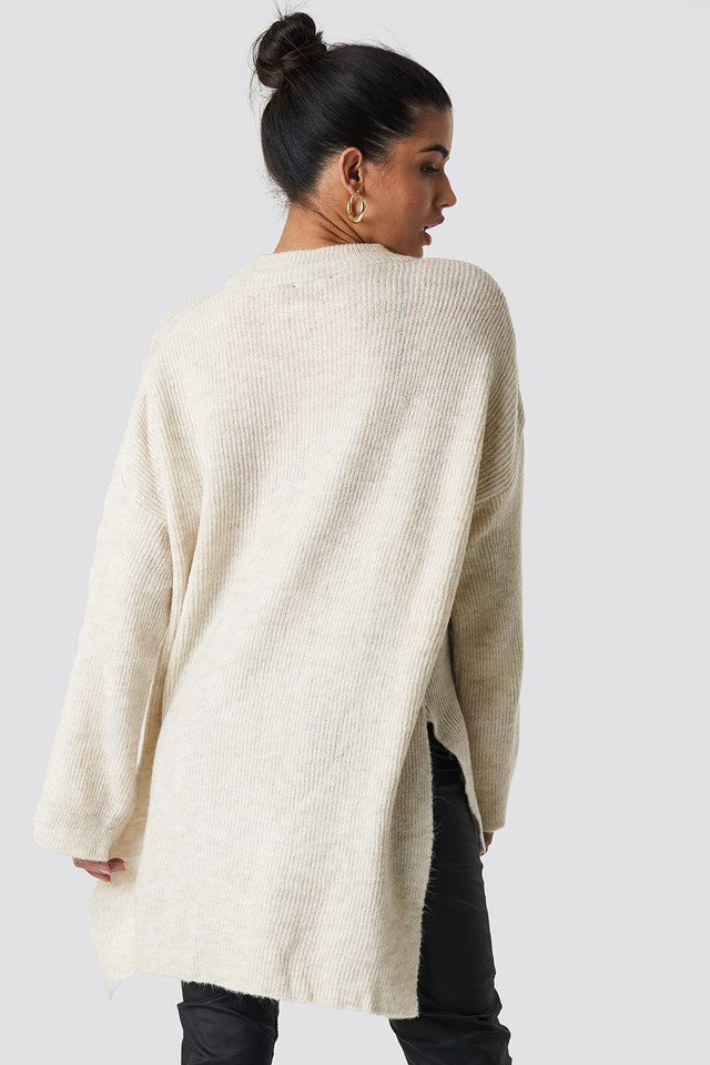 Slit Knitted Jumper NA-KD.COM