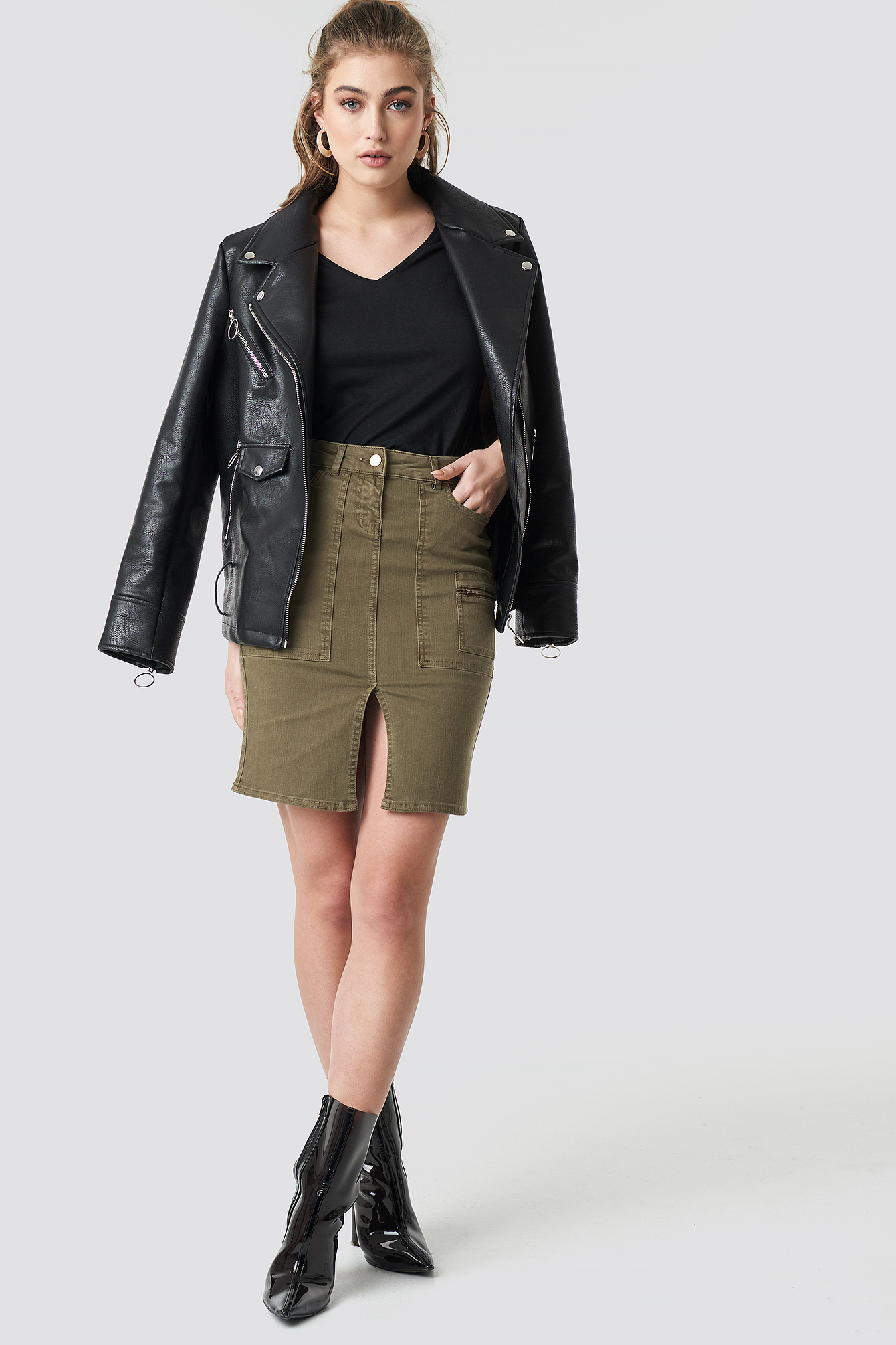 Slit Midi Skirt NA-KD.COM