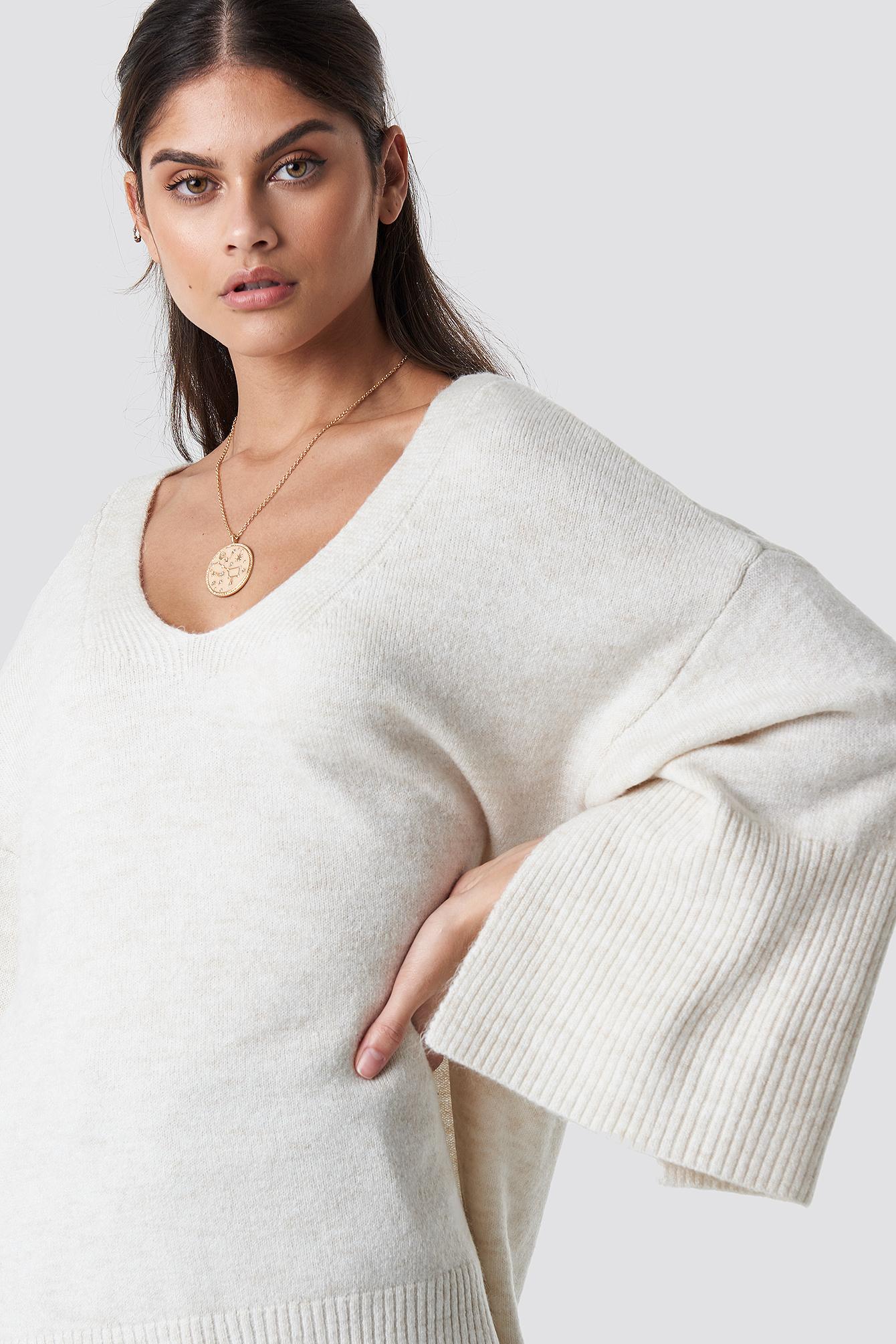 Slit Sleeve Detailed Sweater NA-KD.COM