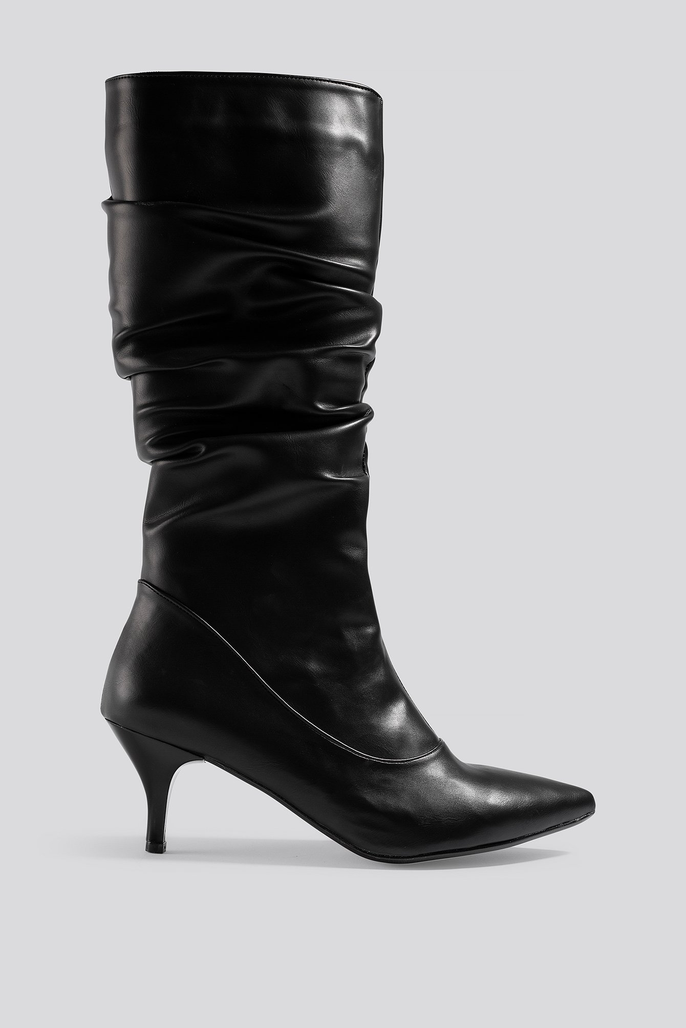 trendyol -  Slouchy High Boots - Black