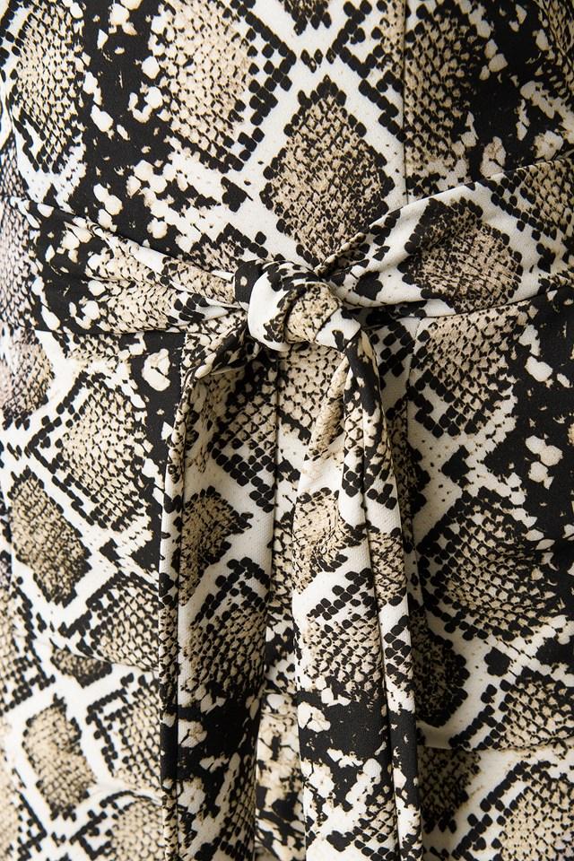 Snake Patterned Jumpsuit Brown