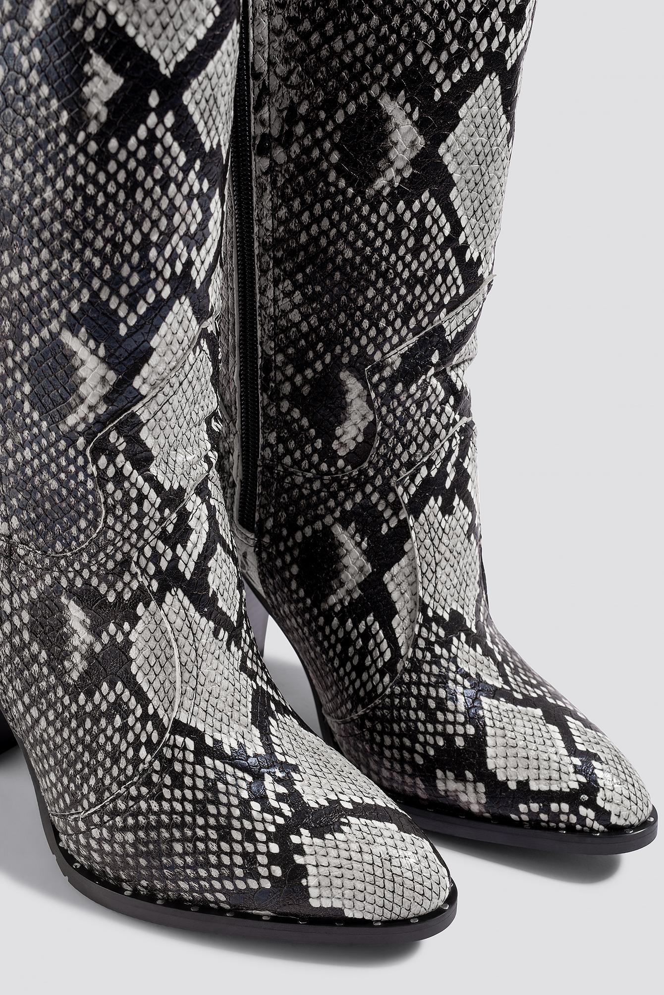 Snake Patterned Boots NA-KD.COM