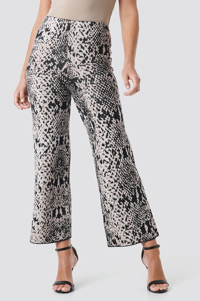 Snake Patterned Pant Mink