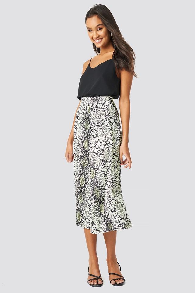 Snake Patterned Skirt Trendyol
