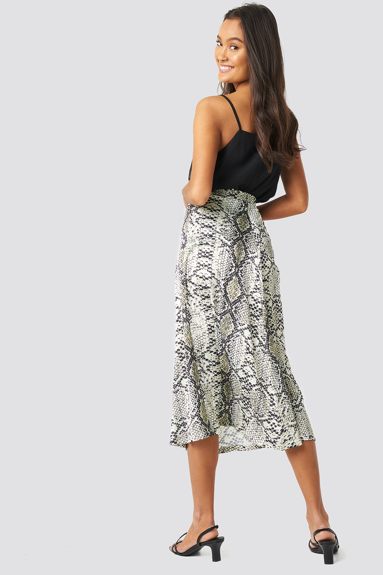 Snake Patterned Skirt NA-KD.COM