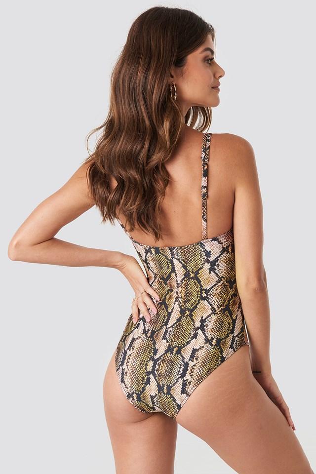 Snake Print Swimsuit Multicolor