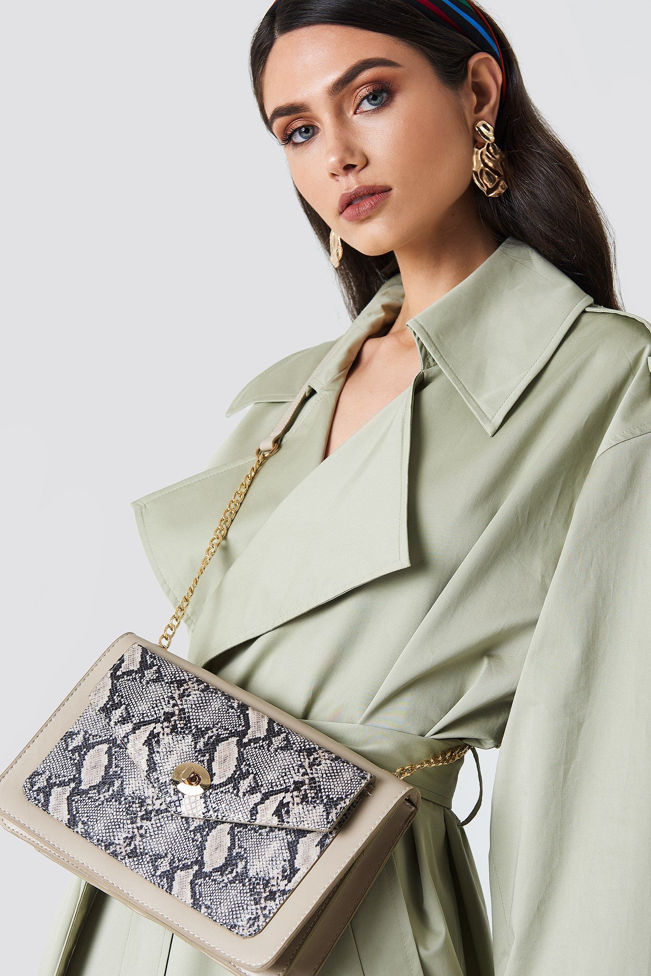 Snake Printed Shoulder Bag NA-KD.COM