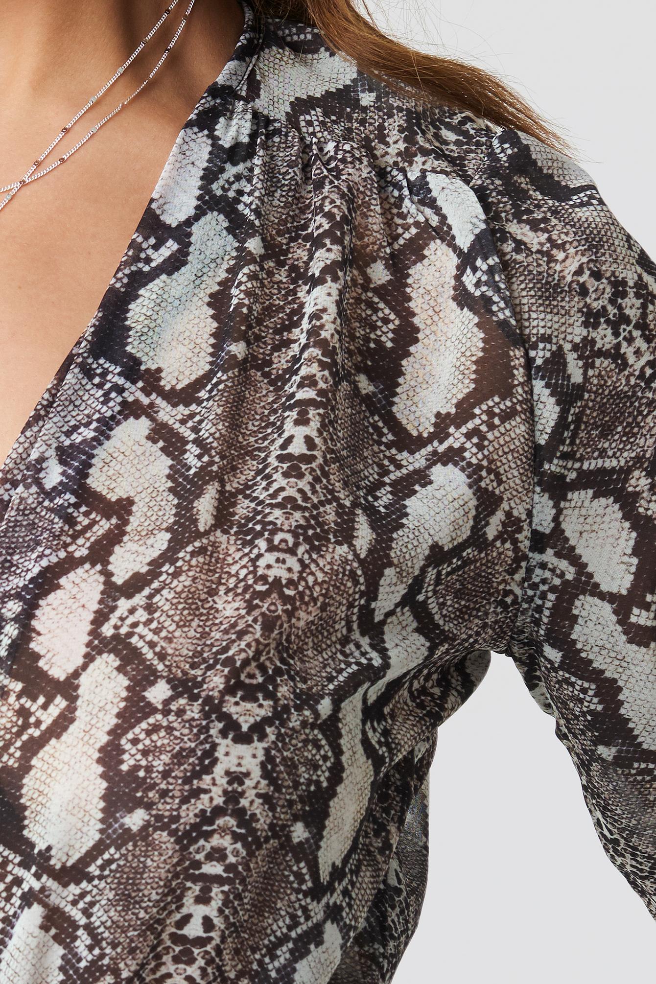 Snake Skin Patterned Body NA-KD.COM