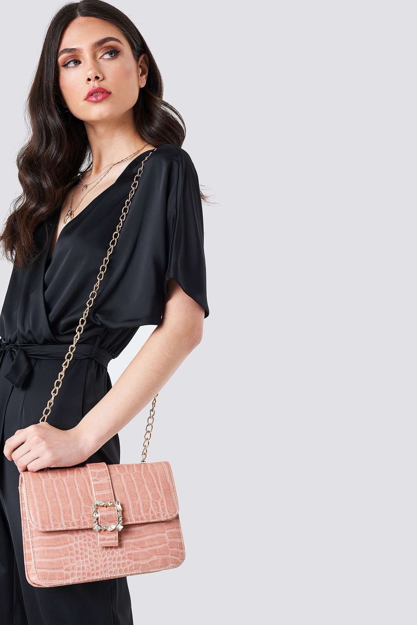 Snakeprint Buckle Shoulder Bag NA-KD.COM