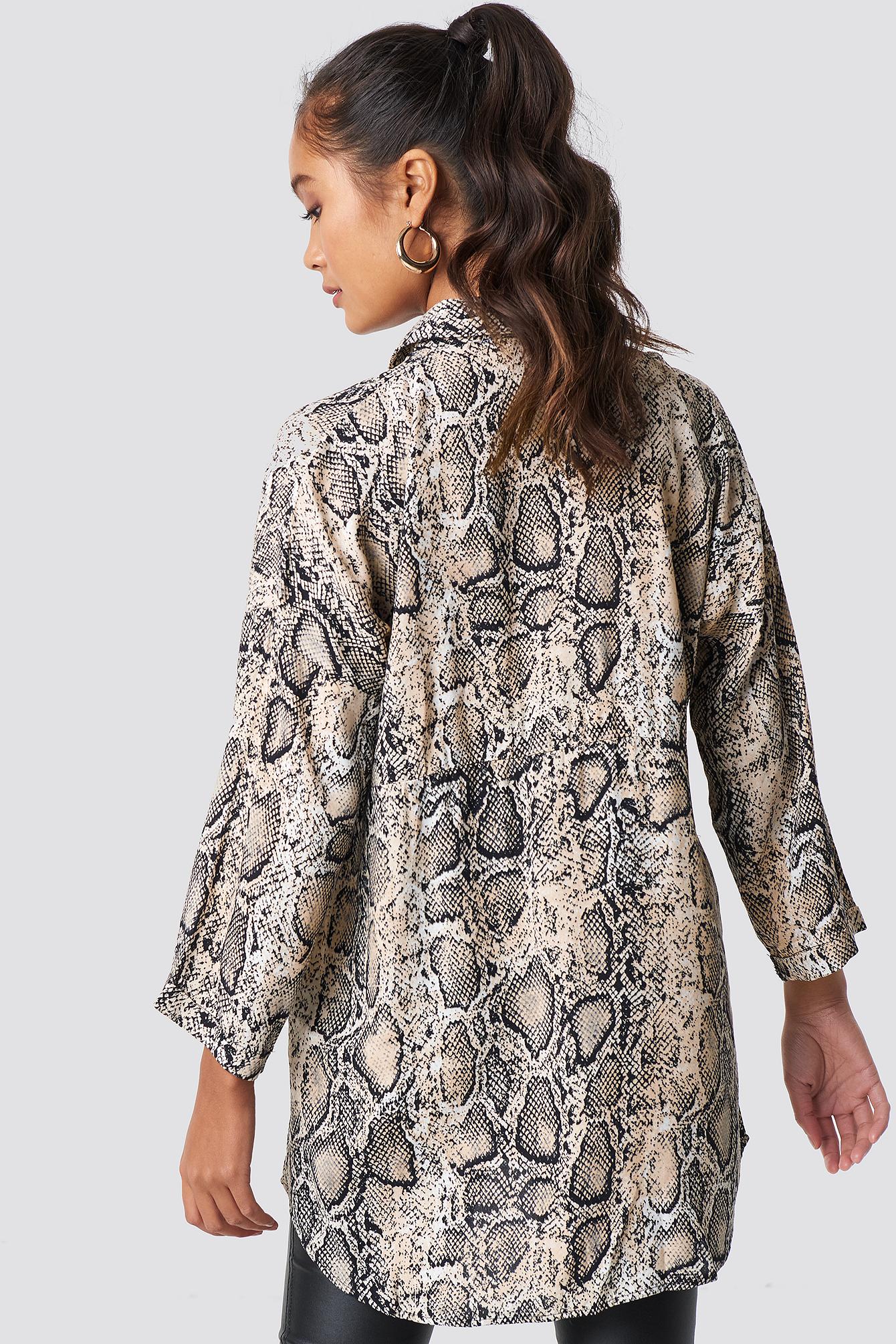 Snakeskin Pattenerd Shirt NA-KD.COM