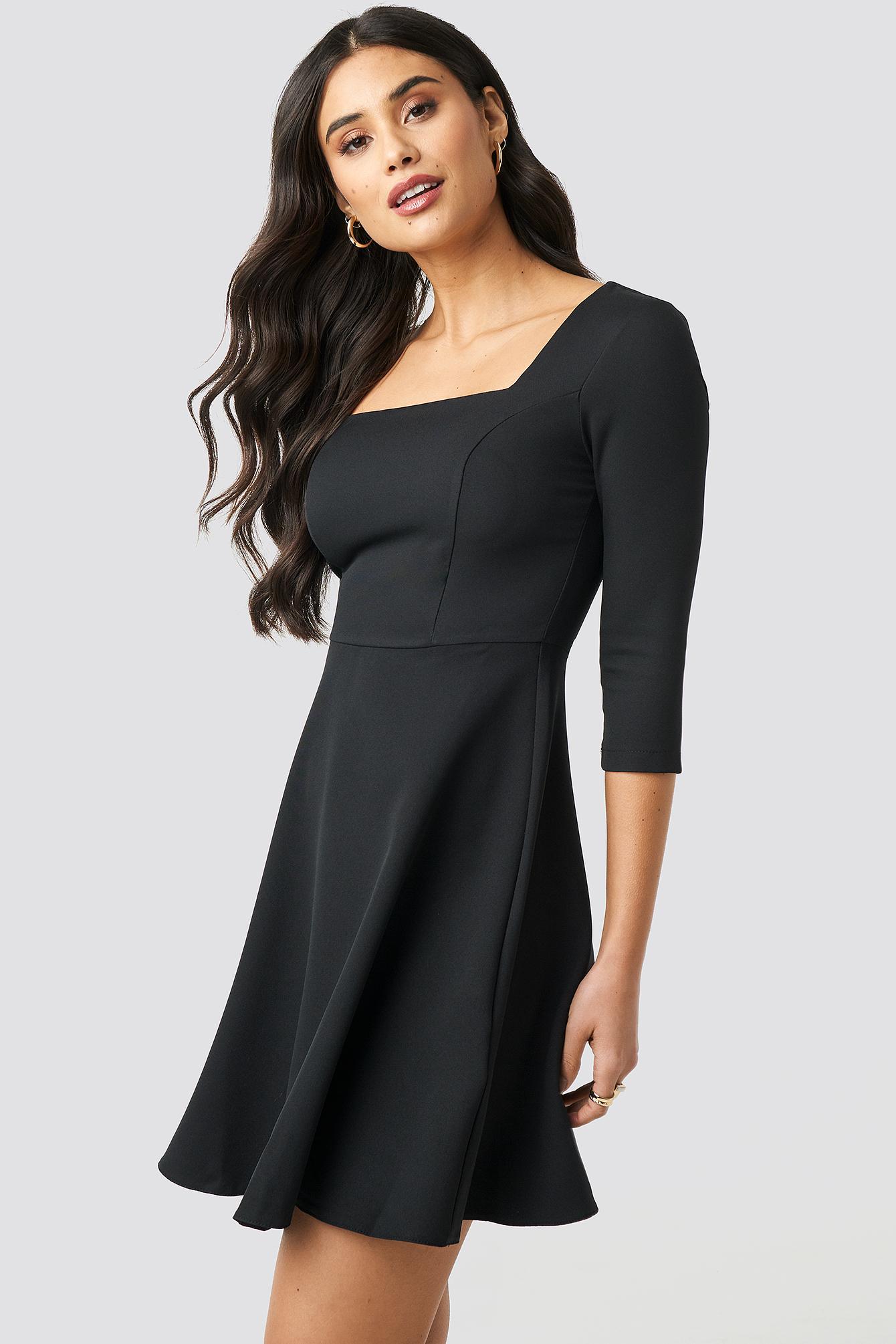 Square Collar Dress NA-KD.COM
