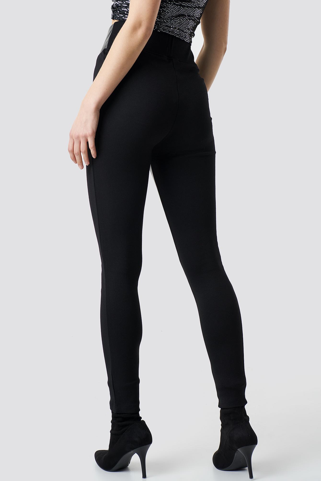Straight PU Pants NA-KD.COM