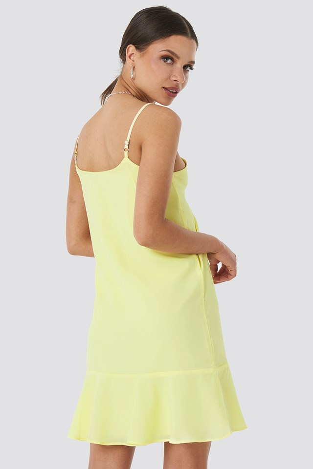 Strap Mini Dress Yellow