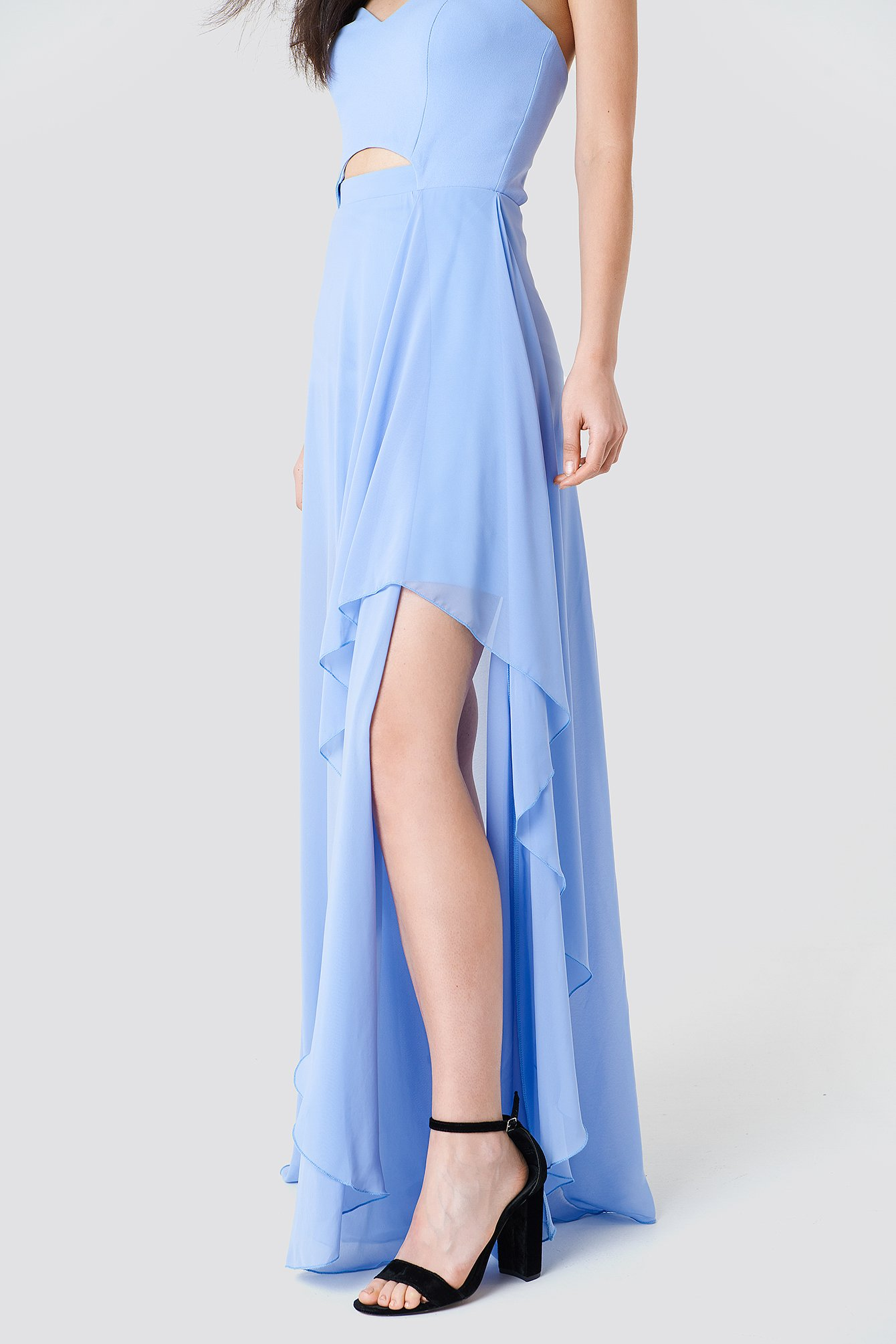 Strapless Asymmetrical Maxi Dress NA-KD.COM