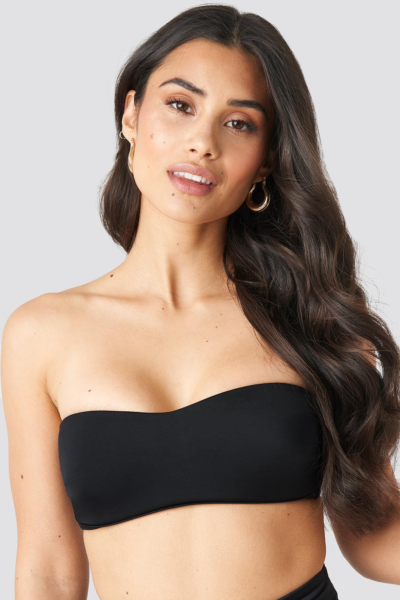 Bandeau Bikini Top White   na-kd.com