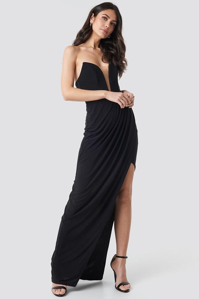 Strapless Evening Dress Gown NA-KD.COM