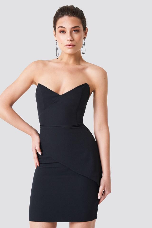 Strapless Little Black Dress Black