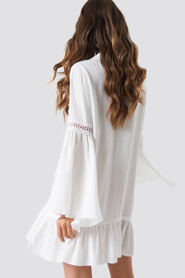 Strip Detailed Shirt Ecru