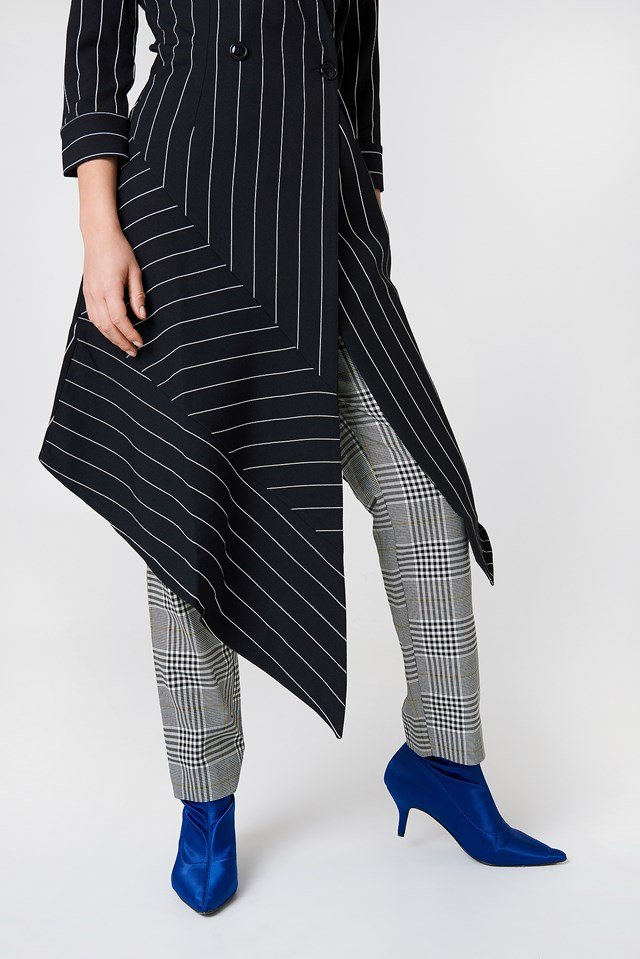 Stripe Asymmetrical Dress Black