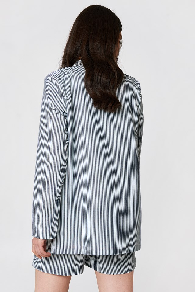 Stripe Detailed Jacket Grey