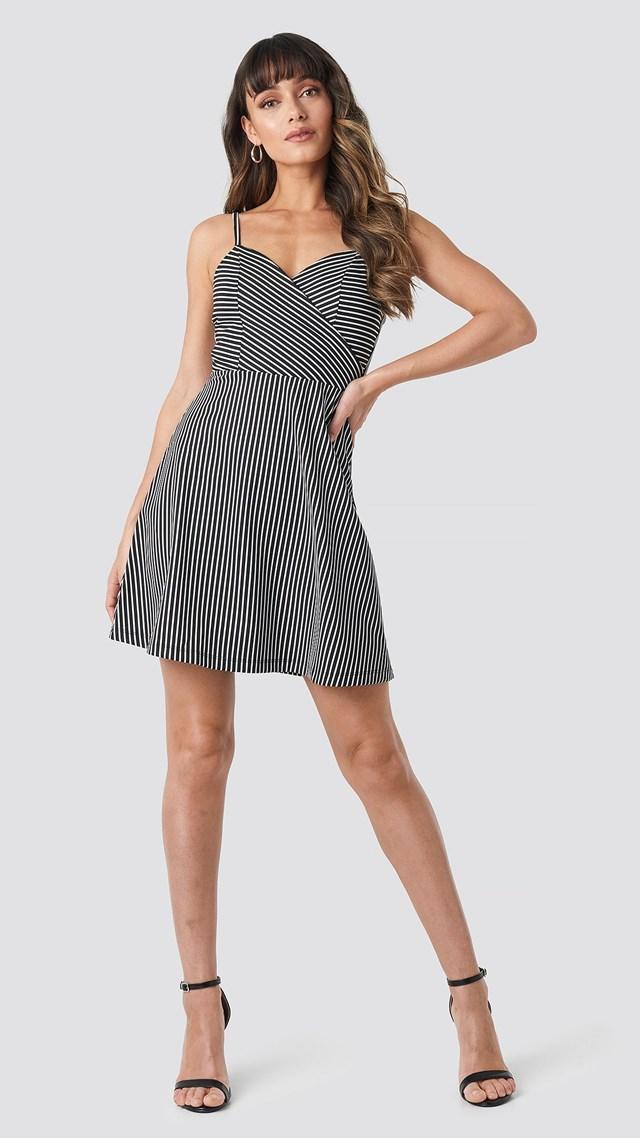 Stripe Mini Dress Black