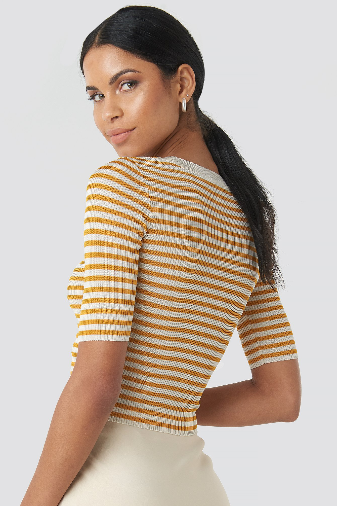 Stripe Ribbed Top NA-KD.COM