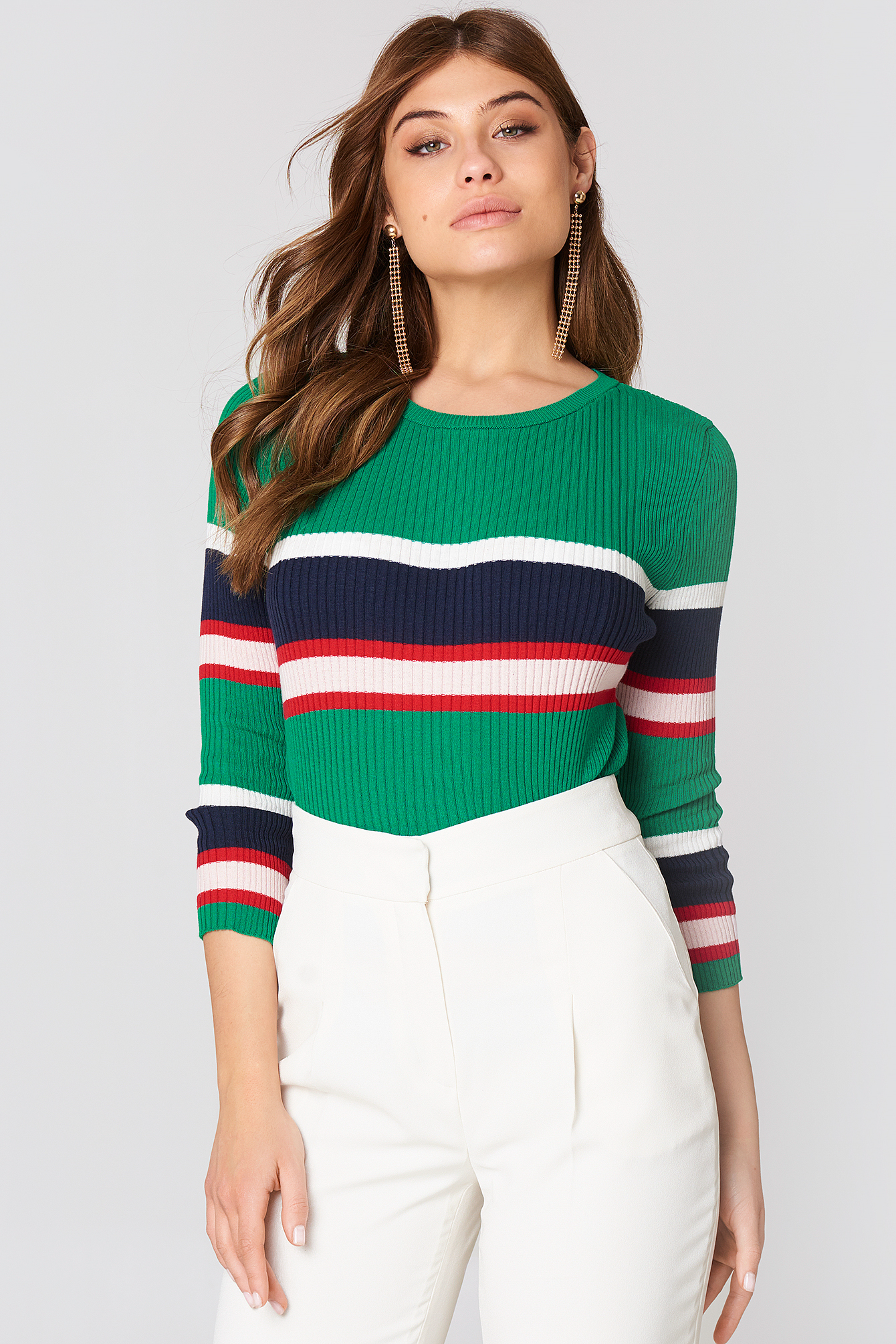 Multi Stripe Sweater NA-KD.COM